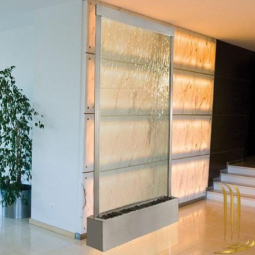 modern şelale tasarımları su perdesi